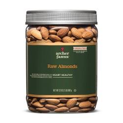 Unsalted Raw Almonds - 32oz - Archer Farms™