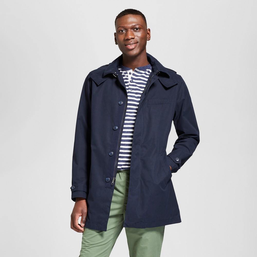 Men's Mock Mac Anorak Jackets- Goodfellow & Co Navy S, Blue