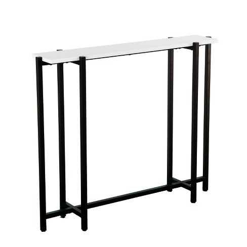 Astonishing Hester Contemporary Narrow Console Table Black White Aiden Lane Beatyapartments Chair Design Images Beatyapartmentscom
