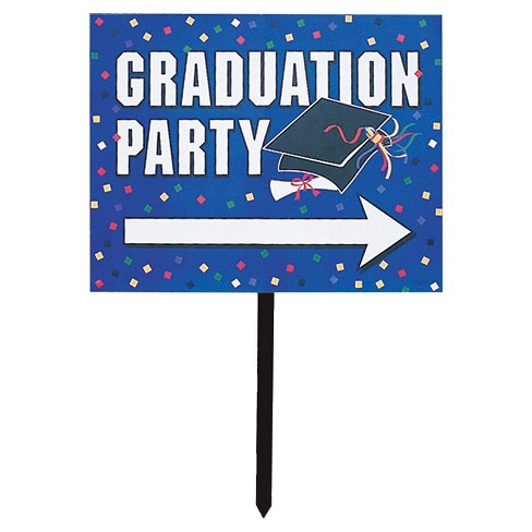 Blue Graduation Party Yard Sign - image 1 of 1