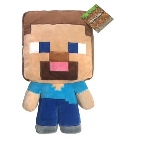 Minecraft Steve Blue Throw Pillow - image 1 of 1