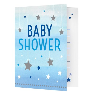8ct One Little Star Boy Baby Shower Invitations