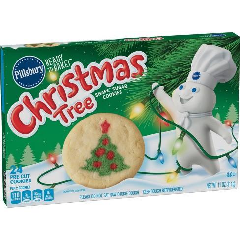 Pillsbury Ready To Bake Christmas Tree Shape Sugar Cookies 24ct 11oz