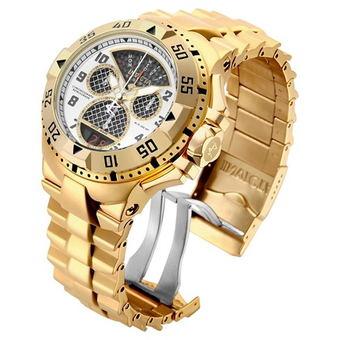 Men's Invicta 17470 Excursion Quartz Multifunction Silver Dial Link Watch - Gold - image 1 of 1
