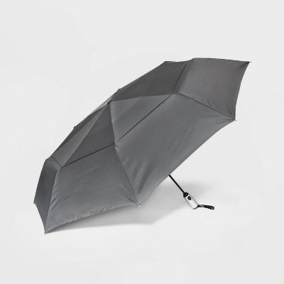 Cirra by ShedRain Jumbo Air Vent Auto Open Close Compact Umbrella - Charcoal