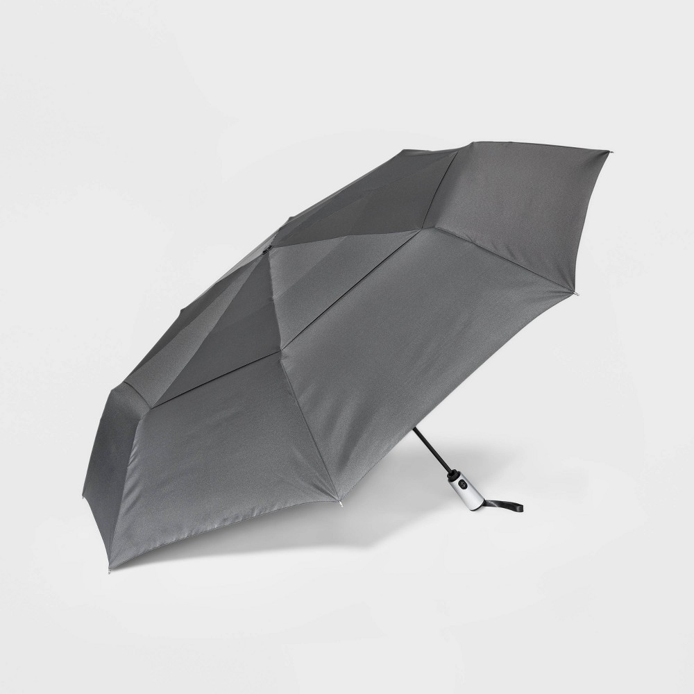 Image of Cirra by ShedRain Jumbo Air Vent Auto Open Close Compact Umbrella - Charcoal, Adult Unisex, Gray