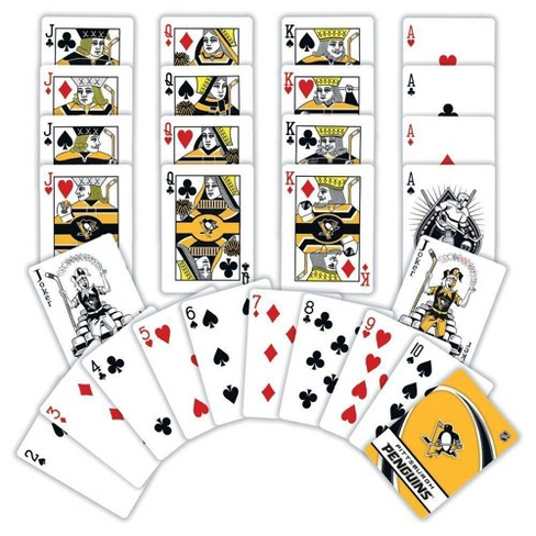 NHL Pittsburgh Penguins Playing Card Game 2 Pc - image 1 of 2