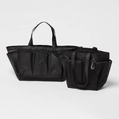 Standard and Large Shower Caddy Bundle Black - Room Essentials™