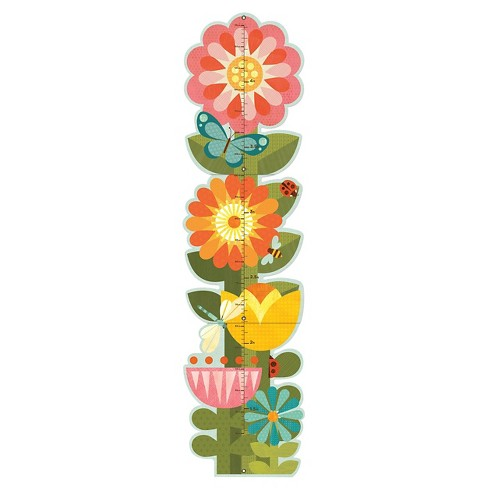 Petit Collage Garden Flowers Folding Growth Chart - image 1 of 1