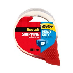 "Scotch Shipping Packaging Tape With Dispenser, Heavy Duty, 1.88"" x 54.6yds"