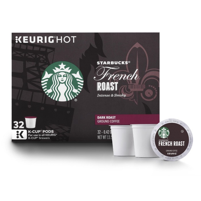 Starbucks French Roast Dark Roast Coffee - Keurig K-Cup Pods - 32ct - image 1 of 5