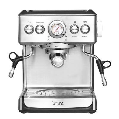 Brim 19-Bar Espresso Maker – Silver