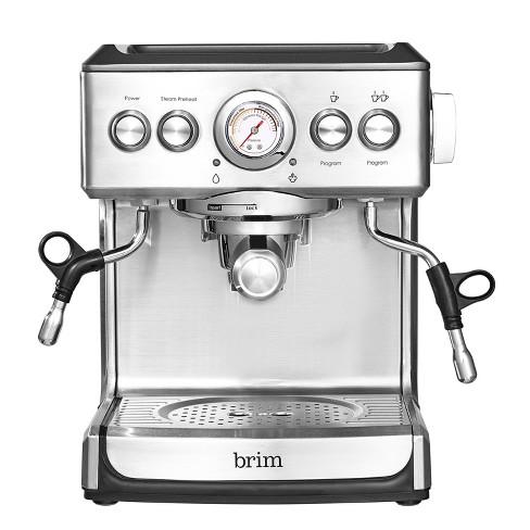 Brim 19-Bar Espresso Maker – Silver - image 1 of 4