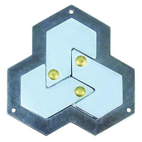 Hanayama Level 4 Cast Metal Brain Teaser Puzzle - Hexagon - image 1 of 2