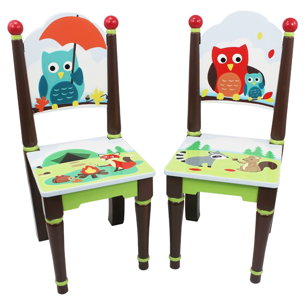 Image of Enchanted Woodland Chairs Wood (Set of 2) - Teamson
