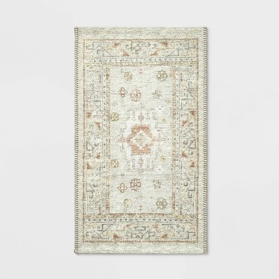 "20""x34"" Printed Persian Kitchen Rug Natural - Threshold™"