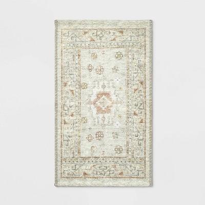 """20""""x34"""" Printed Persian Kitchen Rug Natural - Threshold™"""