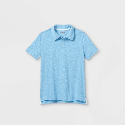 Boys' Short Sleeve Knit Polo Shirt - Cat & Jack™ Blue