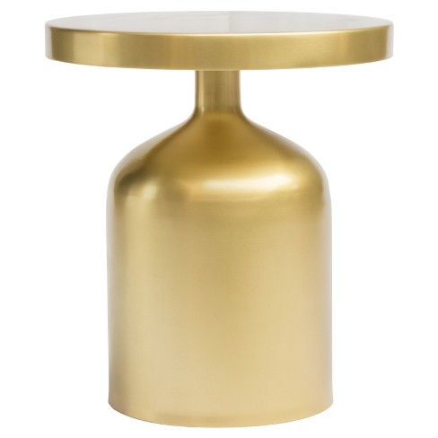 Petite Hourglass Round Accent Table - Brass - Zm Home - image 1 of 7