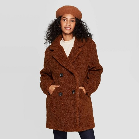 top quality the best on feet at Women's Teddy Coat - A New Day™ : Target