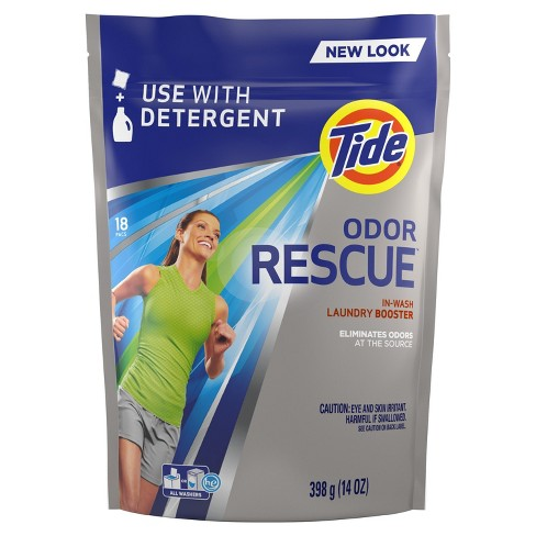 Tide Odor Rescue 18 loads with Febreze Odor Defense In-Wash Laundry Booster Pacs - image 1 of 4