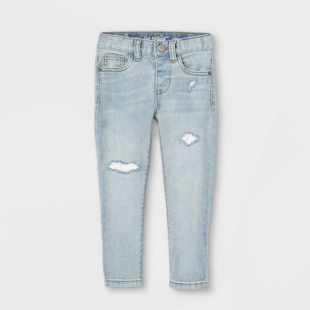 Toddler Girls 39 Lace Repair Skinny Jeans Cat 38 Jack 8482 Light Wash 18m
