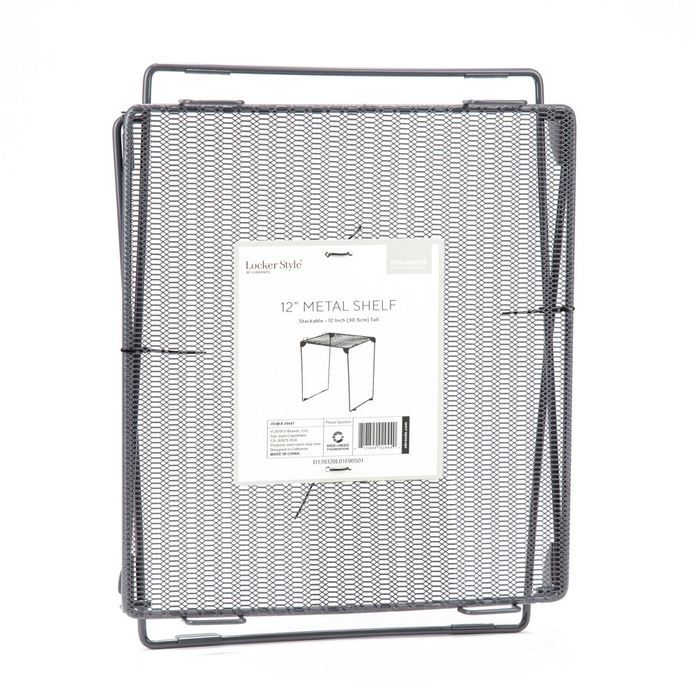 Mesh Metal Locker Shelf Gray 12 - Locker Style