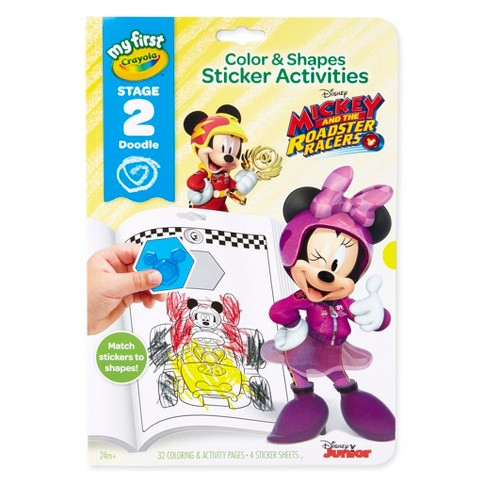 My First Crayola Paw Patrol & Mickey Roadster Sticker Activity Book - image 1 of 10