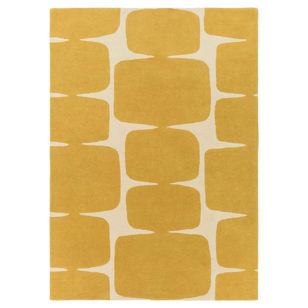 Ashbur Area Rug - Mustard (Yellow), Cream - (2' x 3') - Surya
