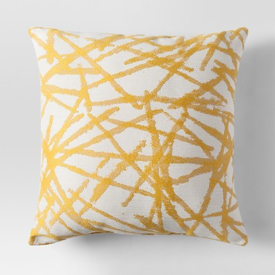 Yellow Woven Brushstroke Throw Pillow - Project 62™