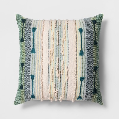 Teal Stripe Oversize Throw Pillow - Opalhouse™