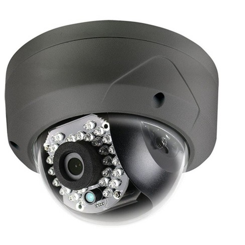 Monoprice IP66 Rated Vandal Proof 2.8mm Fixed Lens IR TVI Dome Camera - Black (HD 1080P, 24 Smart IR LEDs, up to 65ft, 12VDC) - image 1 of 1