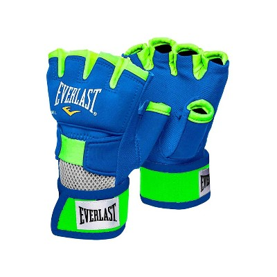 Everlast Prime EverGel Foam Padding Wrist Support Hand Wraps Gloves Size Extra Large, Blue and Green