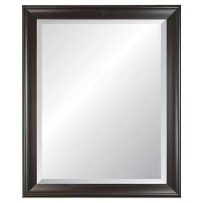 21  x 27  Concept 2.5  Wide Black Framed Beveled Glass Wall Mirror - Alpine Art and Mirror