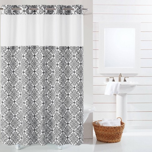 Vervain Medallion Shower Curtain With Liner