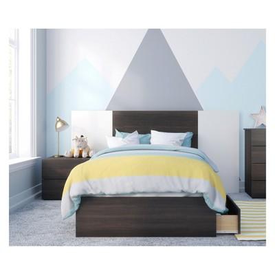 4pc Alaska Bedroom Set Black/White - Nexera