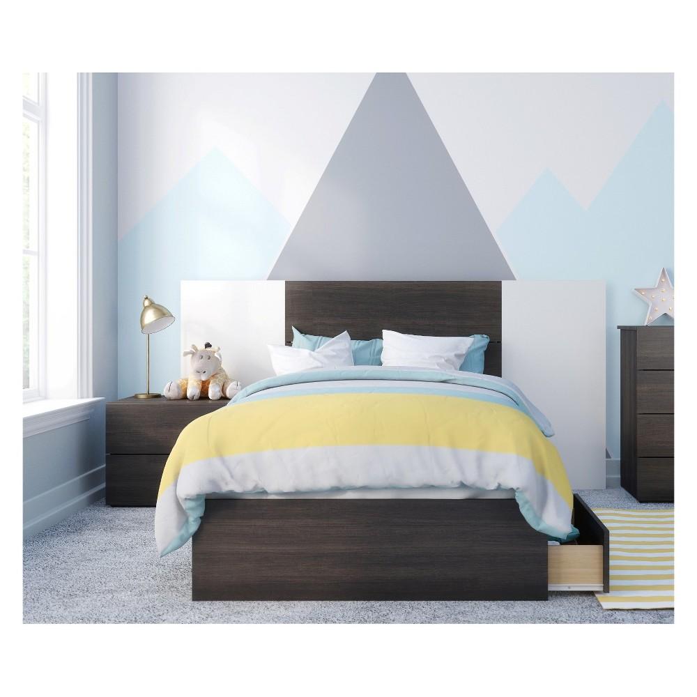 Alaska 4pc Bedroom Set Twin Black & White - Nexera
