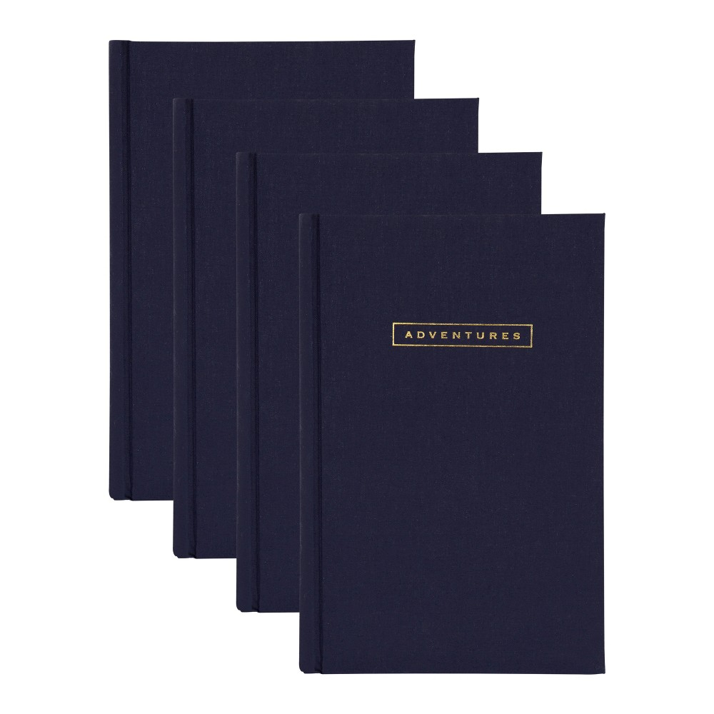 Image of 200 Photos Sentiments Photo Album Set Navy Blue - Designovation, Dark Blue