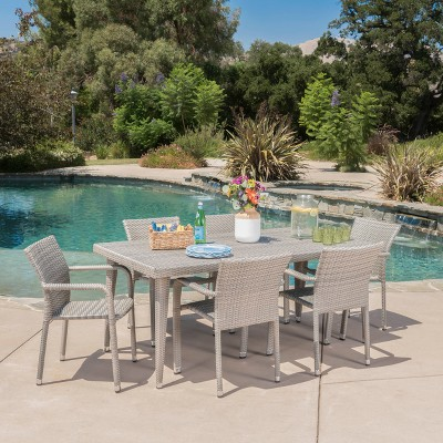 Rutledge 7pc Wicker Dining Set   Christopher Knight Home : Target