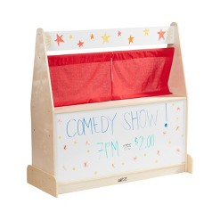 ECR4Kids Activity Birch Hardwood Play Puppet Theater with Dry-Erase Board