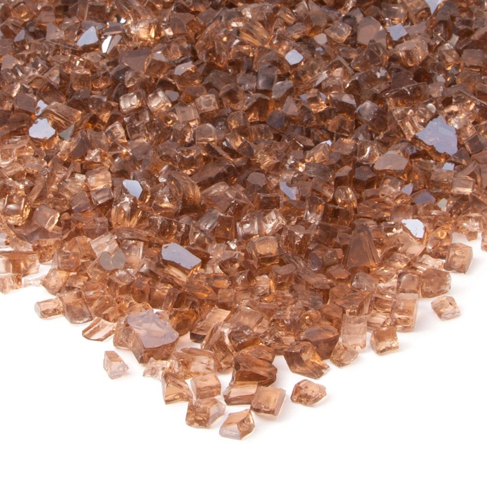 Image of 20lb Fire Glass Reflective Chips Copper - Real Flame, Brown