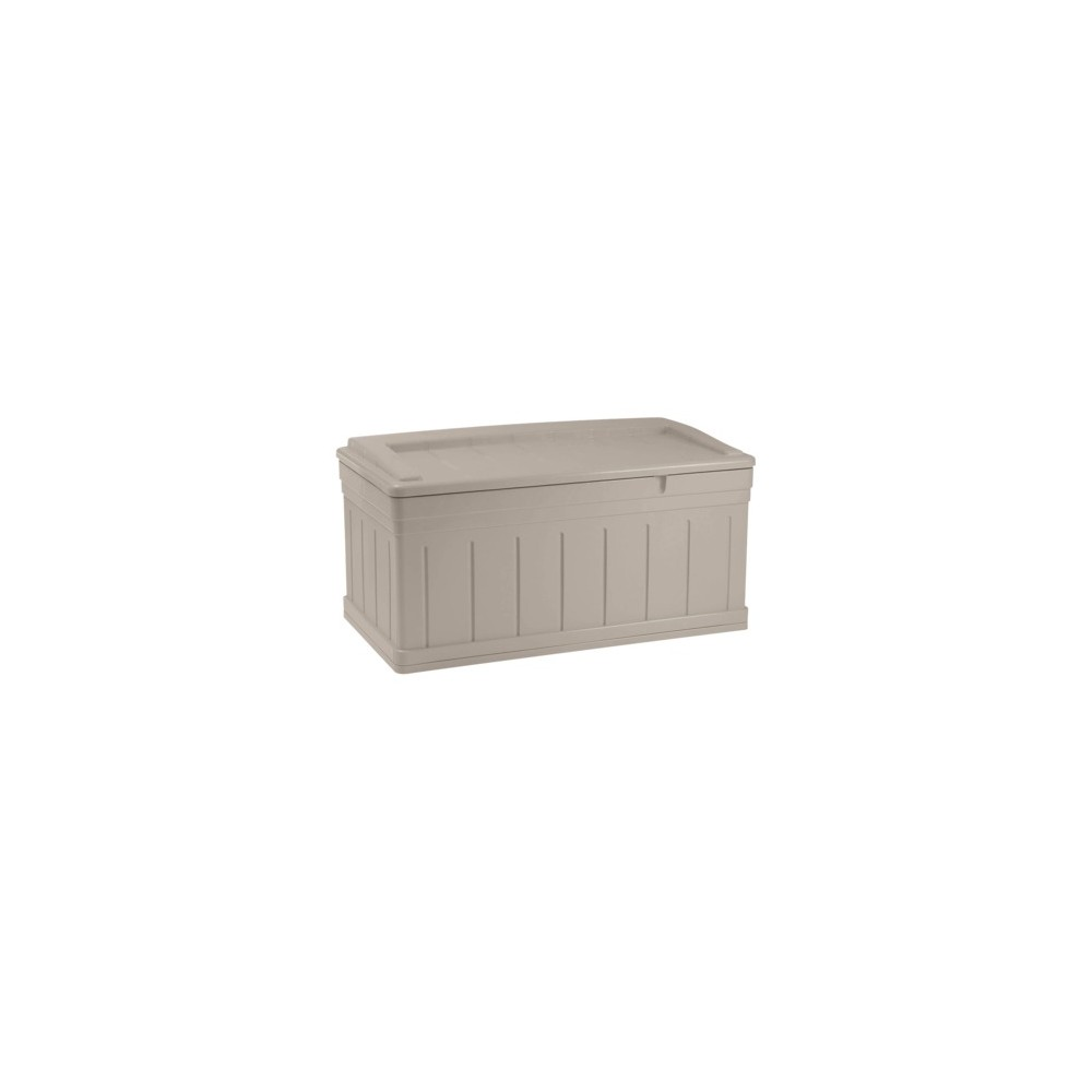 Resin Extra Large Deck Box With Seat - Taupe (Brown) - Suncast