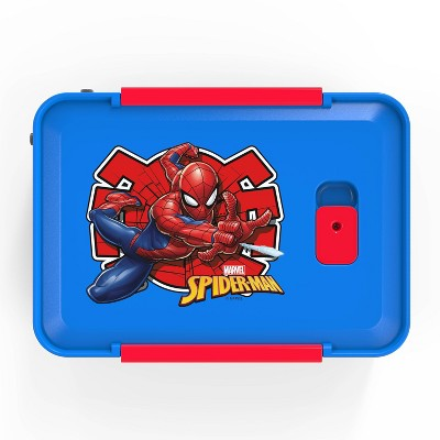 Marvel Spider-Man 50oz Plastic 3-Section Food Storage Container - Zak Designs