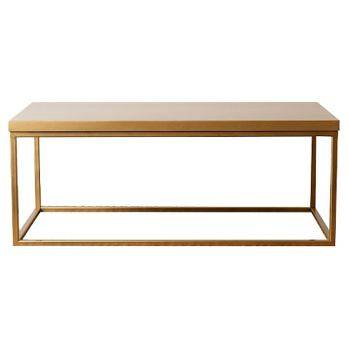 Maplewood Antiqued Wood Coffee Table - Gold - Abbyson Living - image 1 of 4