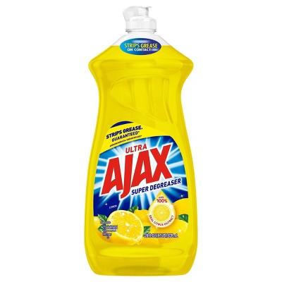 Ajax Ultra Super Degreaser Liquid Dish Soap - Lemon - 28 fl oz