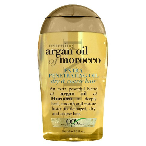 OGX Renewing Moroccan Argan Oil Extra Penetrating Hair Oil - 3.3 fl oz - image 1 of 3