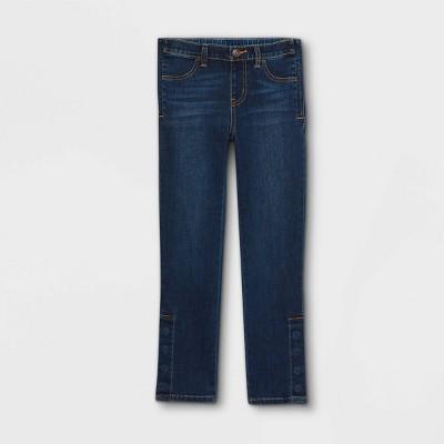 Girls' Adaptive Diaper Friendly Jeans - Cat & Jack™ Medium Wash