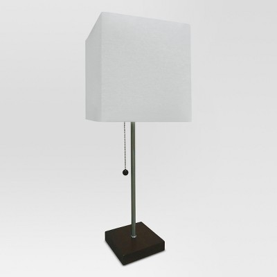 Square Stick Wooden Base Lamp Shell Lamp Only - Project 62™