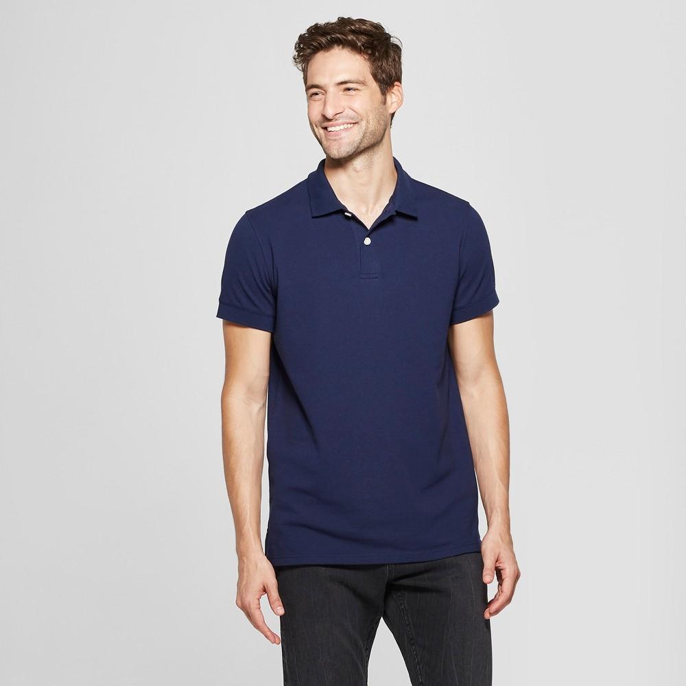 Men's Standard Fit Short Sleeve Loring Polo T-Shirt - Goodfellow & Co Navy Voyage XL