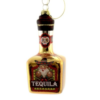 """Holiday Ornament 5.0"""" Tequila Bottle Christmas Drink Santa  -  Tree Ornaments"""